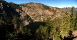 Trail Gulch Lake Panorama from trail on ridgeline saddle