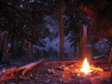 Warm fire at Trail Gulch Lake