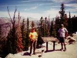 Dave, Jim Bear, and Pika at Elkhart Trailhead