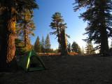 My campsite on Big Ridge