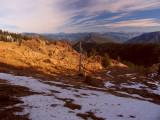 View north across the peridotite