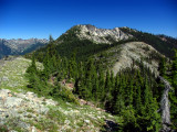 Shelly Peak viewed from ridgeline