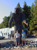 John and I stand one with Bigfoot