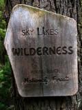 Leaving Sky lakes wilderness