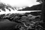Cliff Lake perspective in B/W