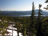 First views on trail of Four Mile Lake