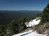 Mt Shasta to the south