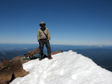 On top of Mt McLoughlin 9495 on 7-3-2010