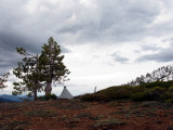 Campsite on ridge above Echo lake
