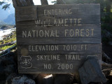 Vintage trail sign on Park Ridge