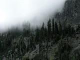 Clouds decend upon Trail Gulch lake