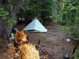 It rained like hell! at Trail Gulch Lake