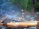 My only fire for the rainy 3 day hike at Trail Gulch Lake