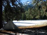 My snowfree campsite in Morris Meadows