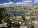 Marie Lake from Selden Pass on the Pacific Crest Trail