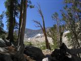 Muir Trail on north side of Mather Pass