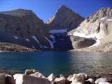 Junction Peak and last lake on climb to Forester Pass