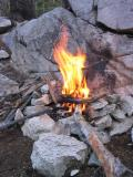 A campfire I enjoyed along the Muir Trail, and in an area where permitted