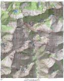 Alps High Route. This map shows most  of the xc  routes I've hiked. Hike at your own risk!!