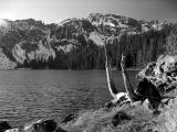 Cliff Lake in black and white