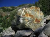 Big rock on south shore of Cliff Lake