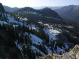 View north down Russian Creek from top of cirque