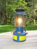 Coleman Military lantern, in blue