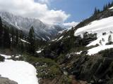 View down Stuart Creek canyon from Emerald lake