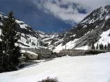 Emerald lake and vintage dam at 5500ft