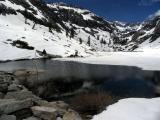 Emerald lake waters