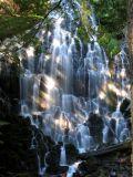 Ramona Falls and rainbow lighting