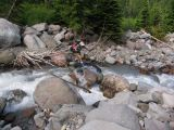 Muddy Creek fork rock jumping
