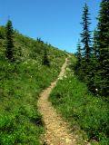 Indian Peak trail down to Indian springs