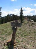 Middle Boulder lake PCT trail sign