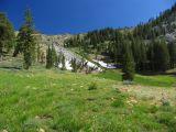 Upper Middle Boulder lake basin