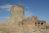 En route to Mesa Verde - Old jail in foreground