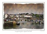 Caernarfon Waterfront in Gwynedd, North Wales, UK