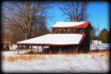 HDR Barn in Snow