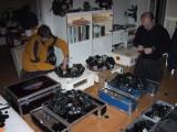 Jos en Robert working at the camera array's