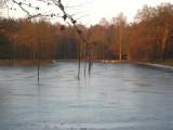 010 - Houdringe: closeup van een nu nog leeg Bilts ijsmeertje maar dat zal morgen heel anders zijn...
