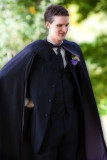 The Caped Groom Makes His Appearance