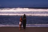 Paul and his surfboard at Sigatoka