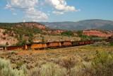 A train in northwest Colorado