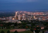Salt Lake City at twilight