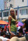 Blonde lady at Venice Beach