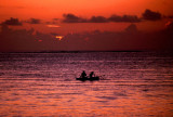 Boat at sunset, Moorea