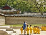 Korean preschoolers at the Palace
