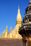 Pha That Luang as seen from Wat That Luang Tai