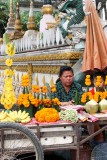 Selling flowers at the temple gates