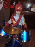 Isabel Plays the Drums